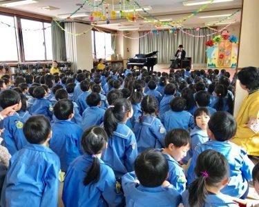 岐阜県岐阜市|本郷幼稚園で演奏とテレビ取材